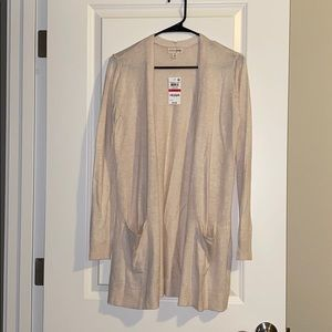 Madison Jules Oatmeal pocket cardigan